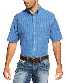 Ariat Men's Blue Brian Short Sleeve Shirt