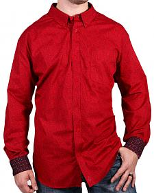 Cody James Core Men's Red Print Long Sleeve Shirt