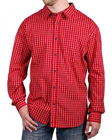 Cody James Core Men's Red Checkered Print Shirt