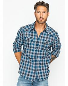 Cody James Men's Range Boss Grey Plaid Western Shirt