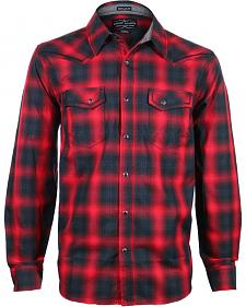 Cody James Men's Sky Plaid Long Sleeve Shirt