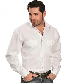 Exclusive Gibson Trading Co. Solid White Twill Long Sleeve Shirt