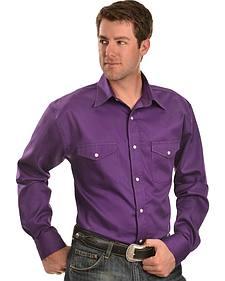 Gibson Trading Co. Purple Twill Long Sleeve Shirt