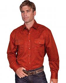 Scully Debossed Western Shirt