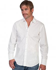 Scully Tonal Front Embroidered Western Shirt
