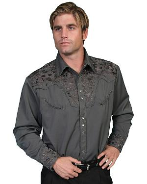 Scully Floral Embroidered Western Shirt