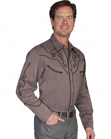 Scully Rose Embroidered Retro Western Shirt