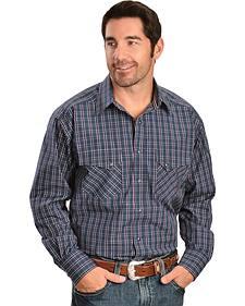 Ariat Twilight Plaid Snap Long Sleeve Shirt