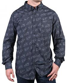 Cody James Men's Paisley Grey Long Sleeve Shirt