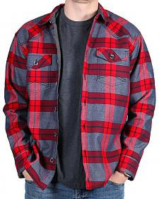Cody James Men's Carson City Fleece Lined Flannel Shirt