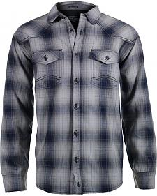 Cody James Men's Whistler Grey Plaid Flannel Shirt