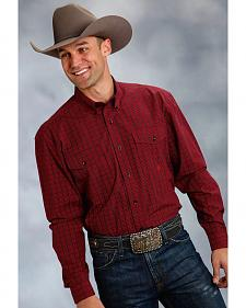 Roper Amarillo Collection Red & Black Plaid Western Shirt