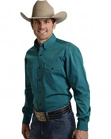 Roper Amarillo Collection Turquoise Western Shirt