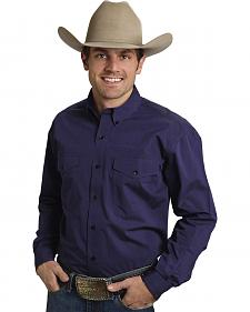 Roper Amarillo Collection Purple Western Shirt