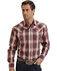 Stetson Red & Grey Plaid Western Shirt