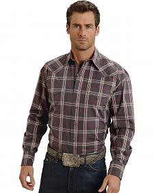Stetson Grey & Red Plaid Western Shirt