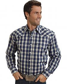 Stetson Blue Plaid Western Shirt