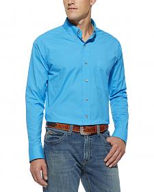 Ariat Pro Series Solid Poplin Scuba Blue Shirt