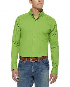 Ariat Green Solid Poplin Shirt