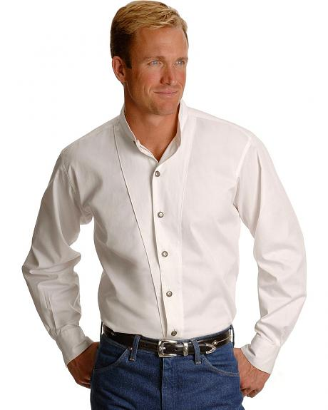 Cumberland Outfitters by Ely Banded Collar Shirt