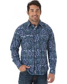 Wrangler Men's 20X Blue Print Shirt