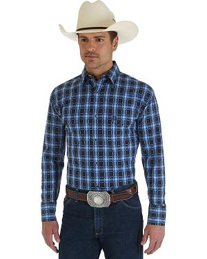 Wrangler George Strait Troubadour Black Check Shirt