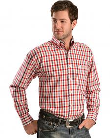 Wrangler George Strait Red Plaid Shirt