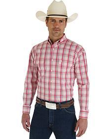 Wrangler George Strait Red & White Plaid Shirt