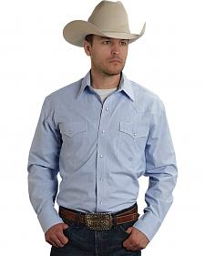 Roper Amarillo Collection Light Blue Check Western Shirt