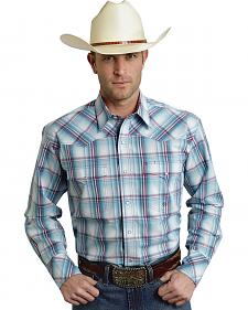 Roper Amarillo Collection Blue Plaid Western Shirt