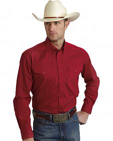 Roper Amarillo Collection Solid Red Western Shirt