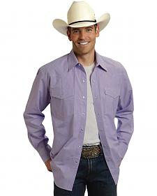 Roper Amarillo Collection Purple Long Sleeve Shirt