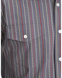 Gibson Trading Co. Dobby Striped Charcoal Shirt at Sheplers