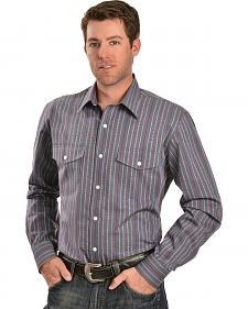 Gibson Trading Co. Dobby Striped Charcoal Shirt