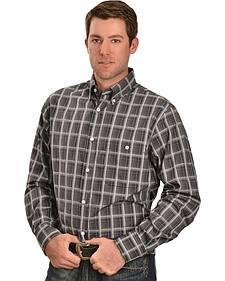 Gibson Trading Co. Grey Plaid Long Sleeve Shirt
