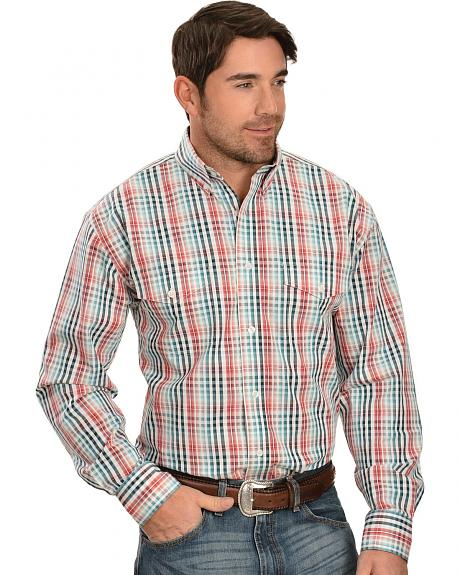 Exclusive Gibson Trading Multi-Colored Checked Long Sleeve Shirt