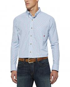 Ariat Robbins Egg Blue Plaid Phoenix Shirt