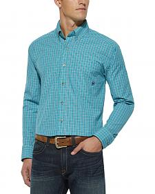 Ariat Turquoise Plaid Stefan Fitted Shirt
