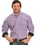 Tuf Cooper Men's Panhandle Purple Plaid Button Shirt