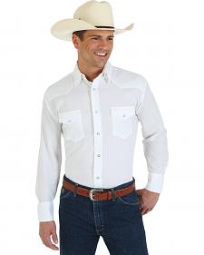 George Strait Troubadour Solid White Western Shirt