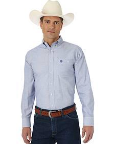 Wrangler George Strait Blue and White Western Shirt
