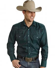 Roper Men's Tone On Tone Embroidered Western Shirt