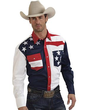 Roper Americana Collection Stars and Stripes Western Shirt