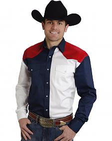 Roper Americana Collection Red, White and Blue Western Shirt