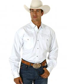 Roper Men's White Twill Western Shirt