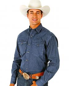 Roper Men's Denim Long Sleeve Western Shirt