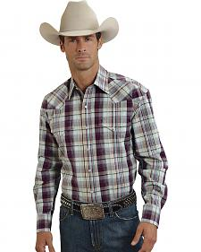 Stetson Bordeaux Plaid Western Shirt
