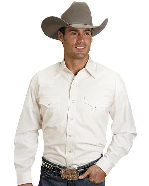 Stetson Solid White Pinpoint Oxford Shirt