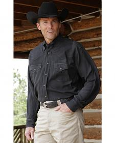 Miller Ranch Black Classic Silk Shirt