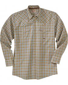 Miller Ranch Cream Plaid Twill Long Sleeve Western Shirt